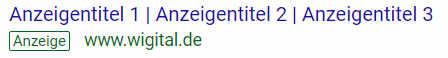 Title Gliederung Google Ads